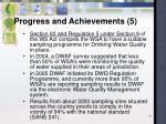 progress and achievements 5