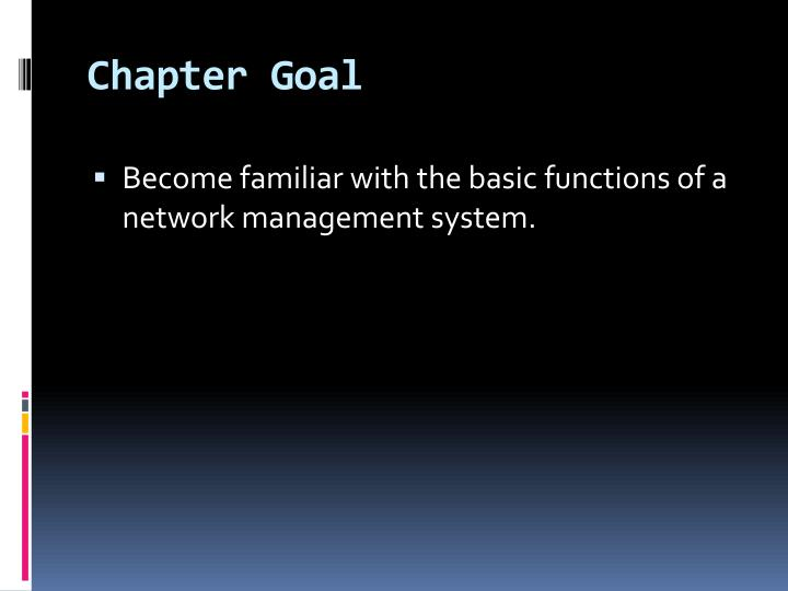 Chapter goal