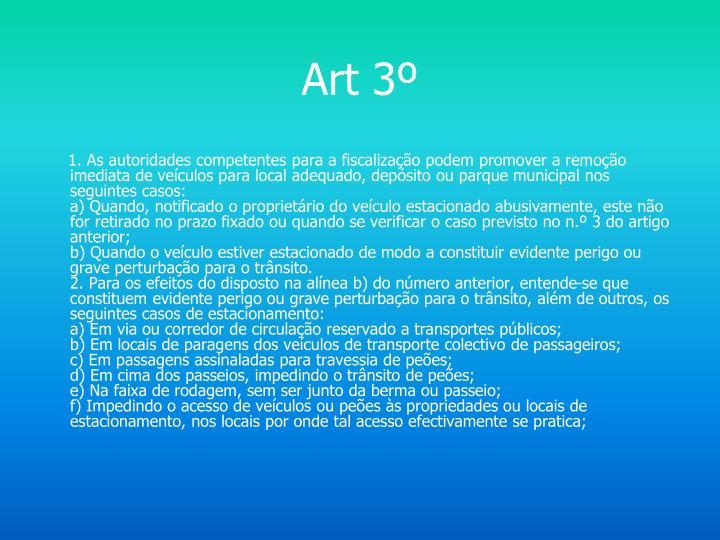 Art 3º