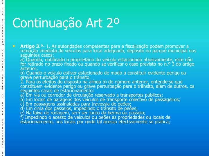Continuação Art 2º