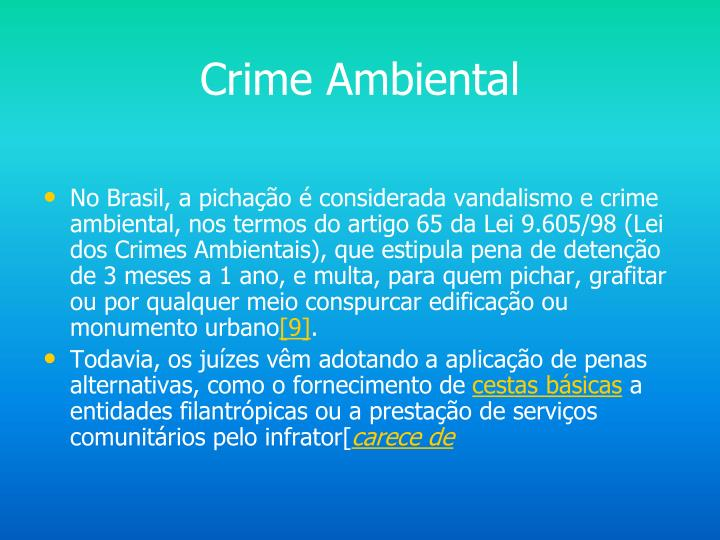 Crime Ambiental
