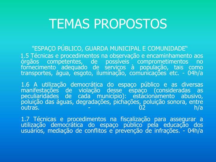 Temas propostos
