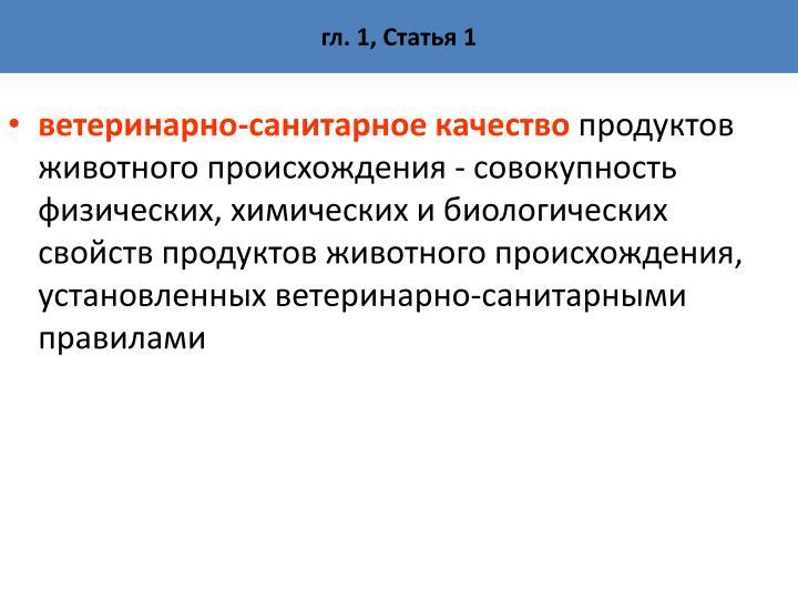 гл. 1, Статья 1