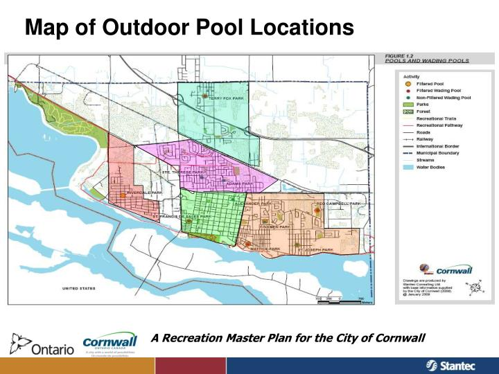 Map of Outdoor Pool Locations