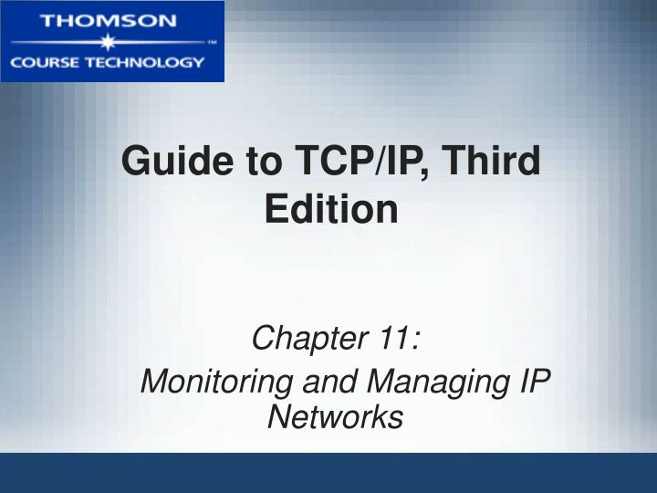 Guide to tcp ip third edition