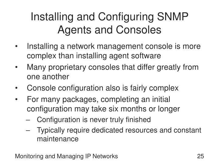 Installing and Configuring SNMP Agents and Consoles