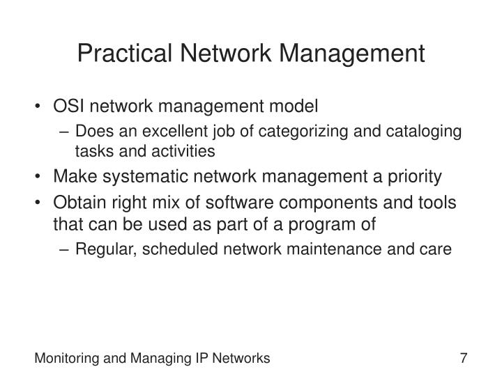 Practical Network Management