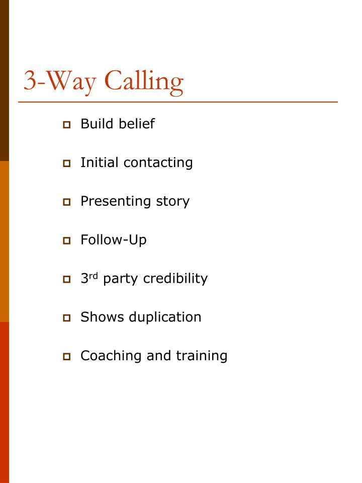 3-Way Calling