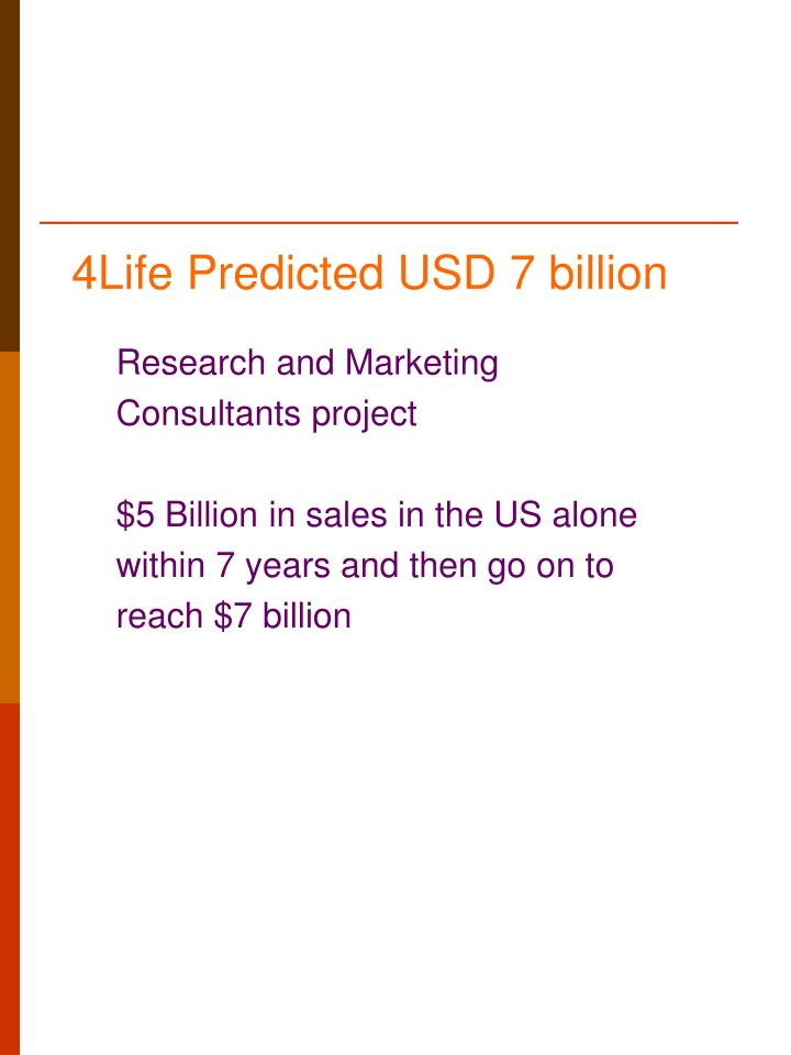 4Life Predicted USD 7 billion
