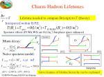 charm hadron lifetimes