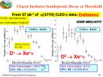 charm inclusive semileptonic decay at threshold