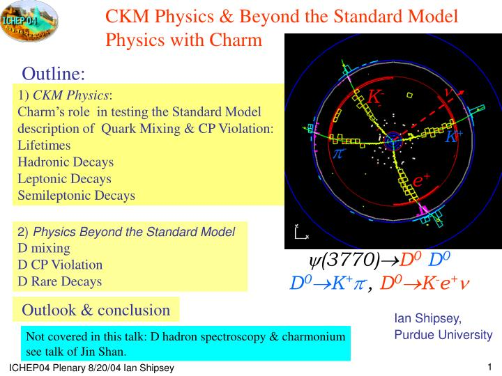 ckm physics beyond the standard model physics with charm n.