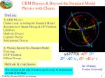 ckm physics beyond the standard model physics with charm