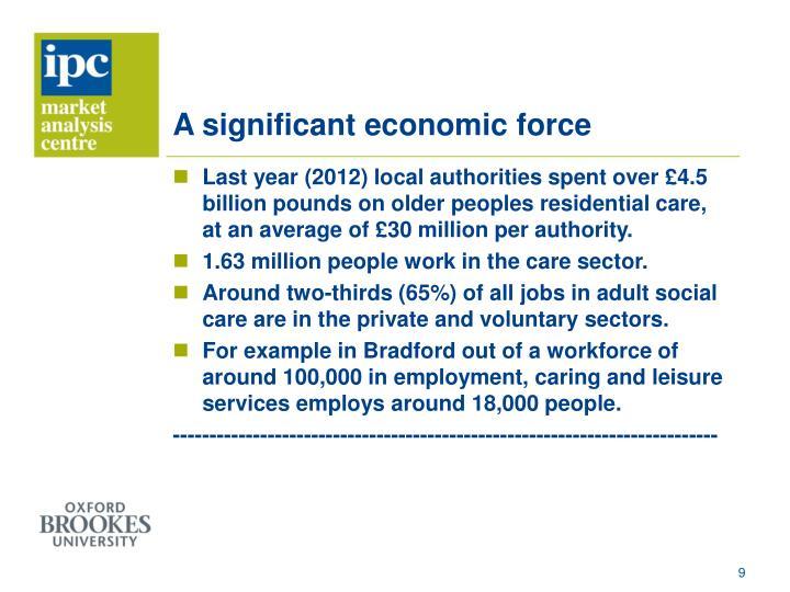A significant economic force