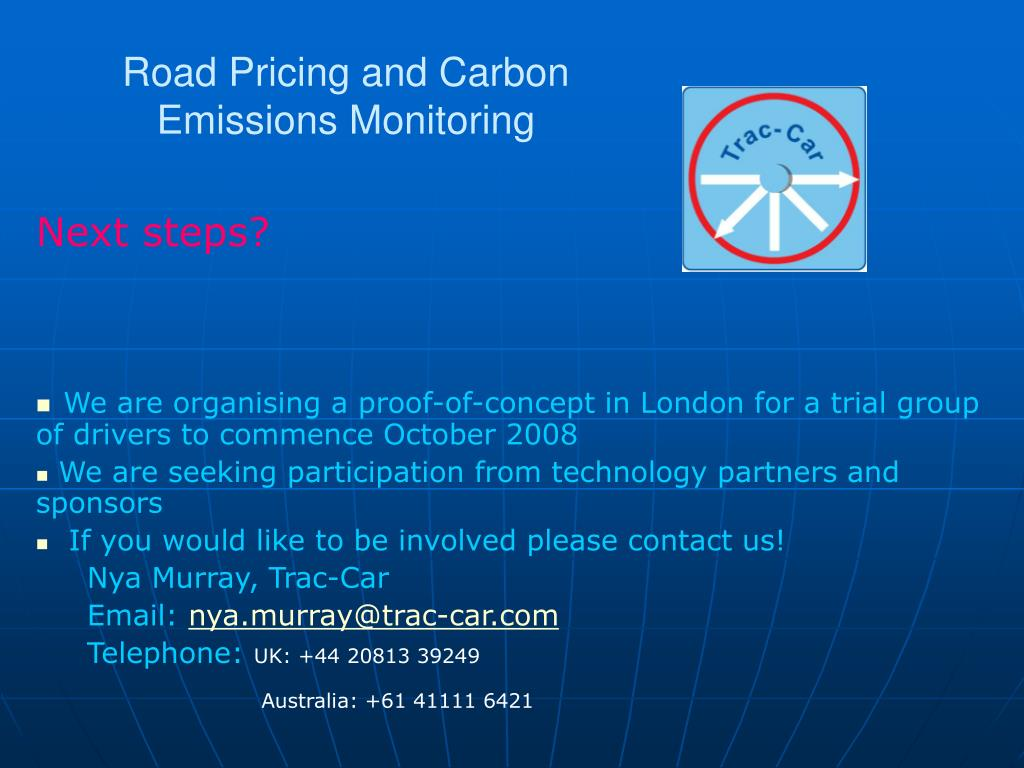 PPT - Road Pricing and Carbon Emissions Monitoring