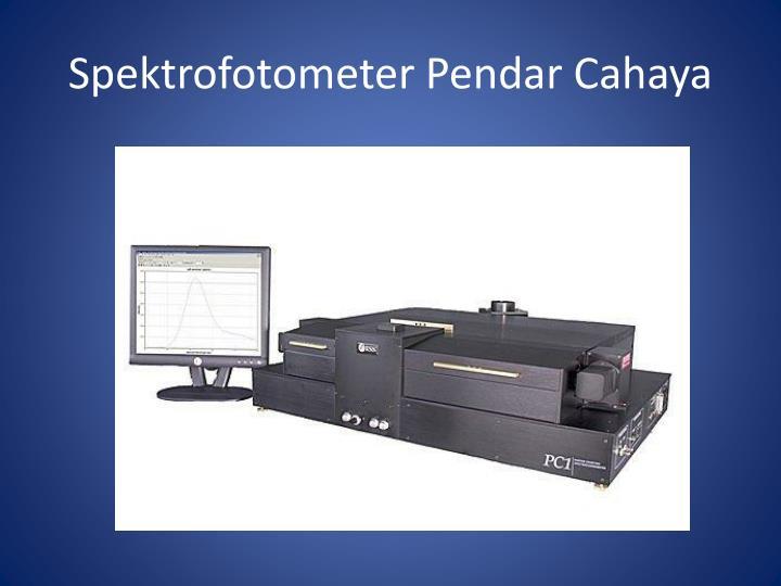 Spektrofotometer Pendar Cahaya