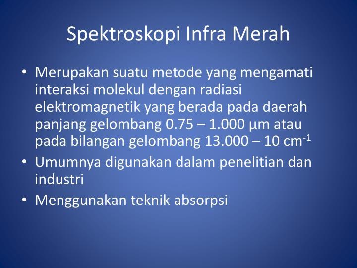Spektroskopi Infra Merah