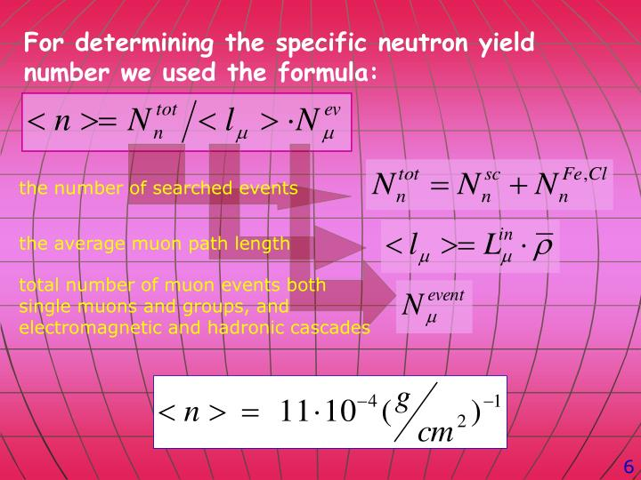 For determining the specific neutron yield