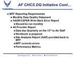 af chcs dq initiative cont