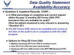 data quality statement availability accuracy