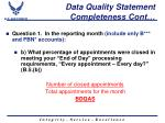 data quality statement completeness cont