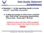 data quality statement completeness