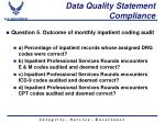 data quality statement compliance1