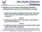 data quality statement timeliness