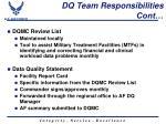 dq team responsibilities cont