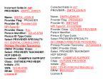 provider profiles con t