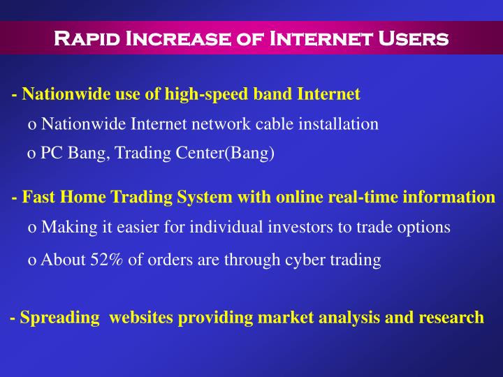 Rapid Increase of Internet Users