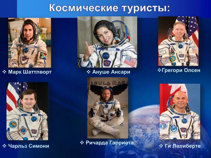 Космические туристы: