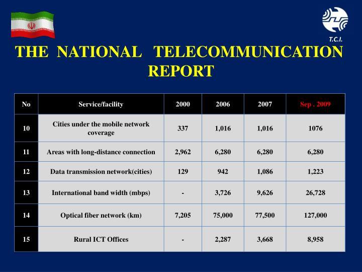 THE  NATIONAL   TELECOMMUNICATION