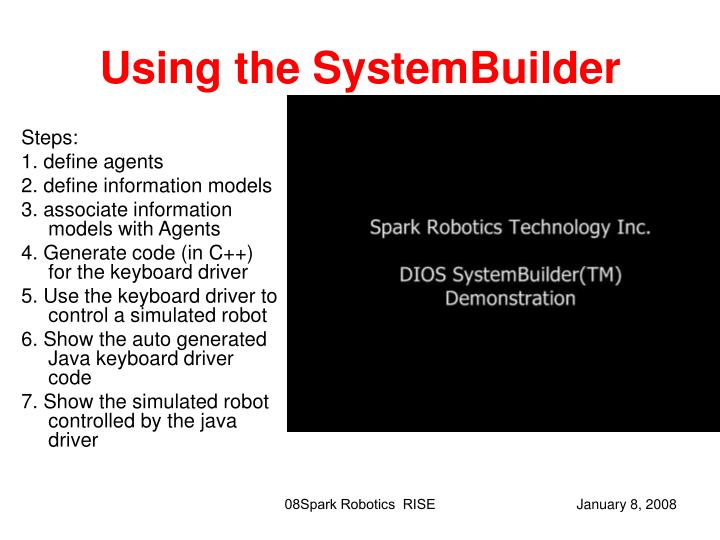 Using the SystemBuilder
