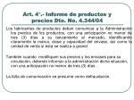 art 4 informe de productos y precios dto no 4 344 04