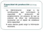 capacidad de producci n art 114 ley 125 91