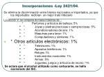 incorporaciones ley 2421 041