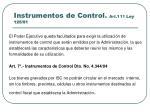 instrumentos de control art 111 ley 125 911