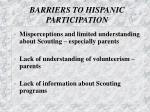 barriers to hispanic participation