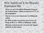 how significant is the hispanic population
