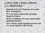 language usage among u s hispanics