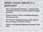 media usage among u s hispanics
