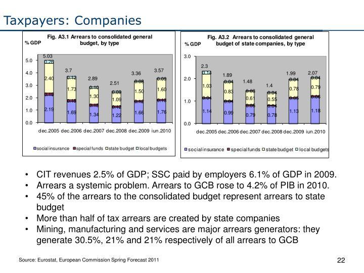 Taxpayers: Companies