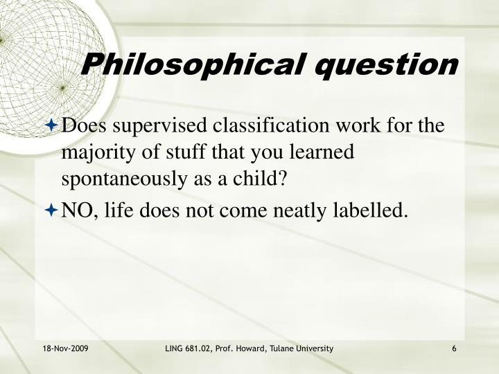 Philosophical question