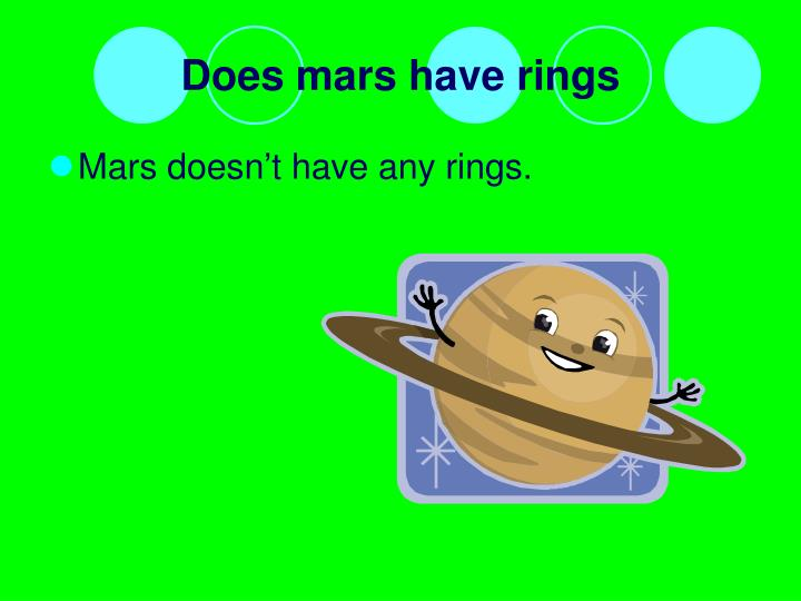 Does mars have rings