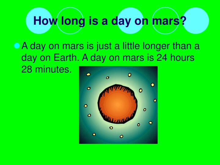 How long is a day on mars