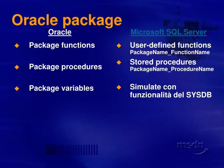 Oracle package