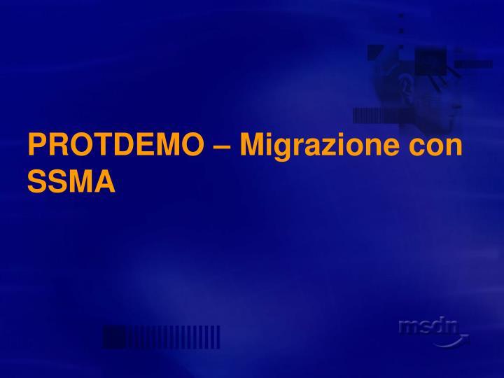 PROTDEMO – Migrazione con SSMA