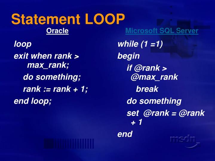 Statement LOOP