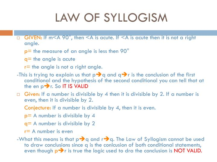 LAW OF SYLLOGISM